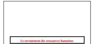 Le recrutement des ressources humaines