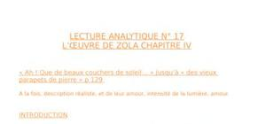 Lecture analytique zola