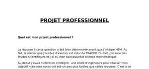 Projet professionnel (trader)