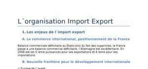 L'organisation import/export