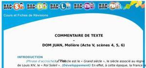 Commentaire de Texte Dom Juan : Acte 5 (Scènes 4, 5, 6)