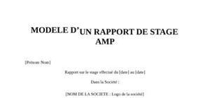Rapport de Stage Amp