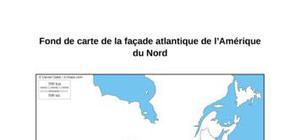 Fond de carte de la façade atlantique de l'Amérique du Nord