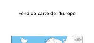 Fond de carte de l'Europe
