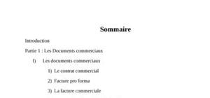 Documents commerciaux et les incoterms