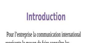 La communication internationale