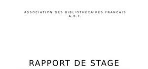 Rapport de stage communication