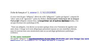 Fiche de français n° 3, annexe 1 : l'allegorie