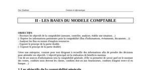 Bases du modèle comptable