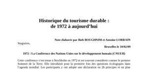 Historique du tourisme durable :de 1972 à aujourd'hui