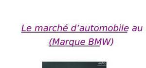 Le marché d'automobile ; marque bmw au maroc