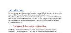 La structure staff and line