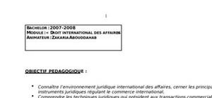 Droit international des affaires