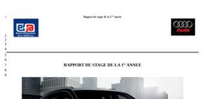 Rapport de stage automobile