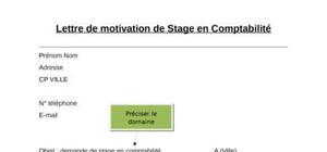 Lettre de motivation de stage en comptabilité