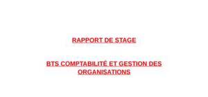 Rapport de stage en bts comptabilité