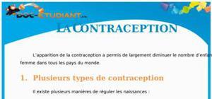 La contraception : Cours Terminale S