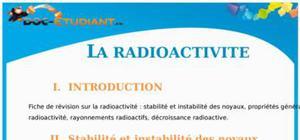 La radioactivité : Cours Terminale S