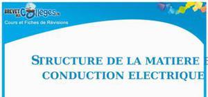 Structure de la matière et conduction électrique : Fiche de révision Brevet