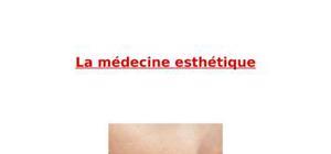 Tpe médecine esthétique