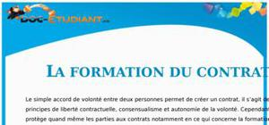 La Formation du Contrat : Cours Droit Première STG