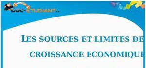Les Sources et Limites de la Croissance Economique : Cours Terminale ES