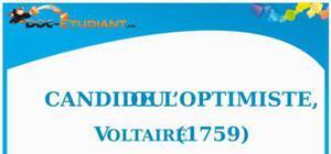 Résumé Candide ou l'Optimiste de Voltaire - ES - L