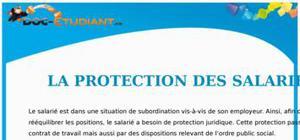 La Protection des Salariés : Cours Droit Terminale STG