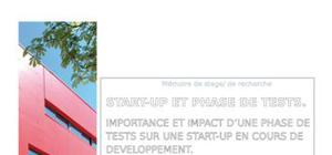 Rapport de stage : start-up et phase de test