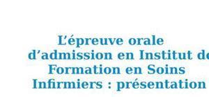 Présentation de l'épreuve orale d'admission en IFSI