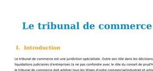 Le tribunal de commerce