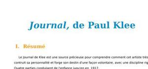 Journal de Paul Klee, résumé et analyse