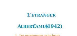 Résumé et analyse de, L'Etranger d'Albert Camus