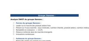 Analyse SWOT : Danone, Ikea, Bic