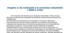 De l'antiquité à la révolution industrielle