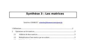 Les matrices mathématiques