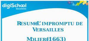 Résumé l'impromptu de Versailles-Molière
