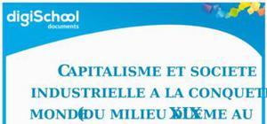 Capitalisme et société industrielle à la conquête du monde