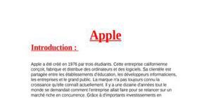Exposé sur la firme Apple