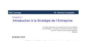 Stratégie de l'entreprise
