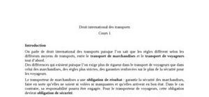 Droit international des transports