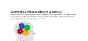 Comment les émotions affectent la mémoire