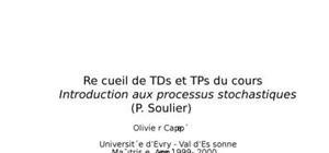Introduction aux processus stochastiques