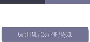 Cours PHP et HTML