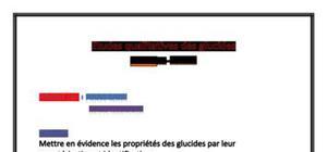 Etude qualitative des glucides - Compte Rendu