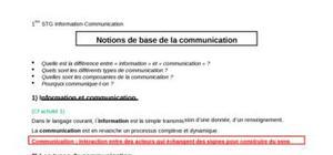 Bases de la communication