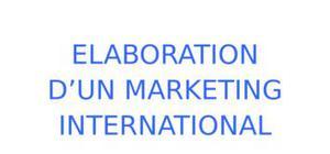 Stratégie de marketing international