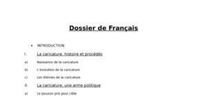 Dossier de français : Caricature et pouvoir