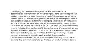 L'accord anti dumping