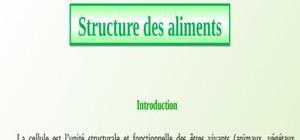 Structure des aliments